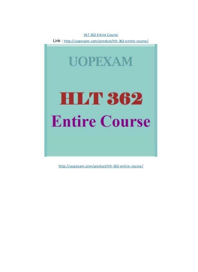 hlt 362 Instructions for completing exercise 17 for hlt 362v: statistics for healthcare professionals.