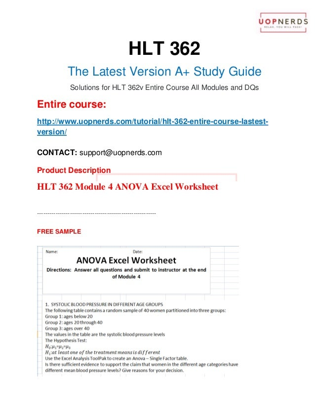 hlt 362 hypthesis excel worksheet Gc hlt362 week 3 benchmark assignment - hypothesis testing excel worksheet details:  gc_hlt362_all_assignment_latest_2016_aprilzip (148882 kb).
