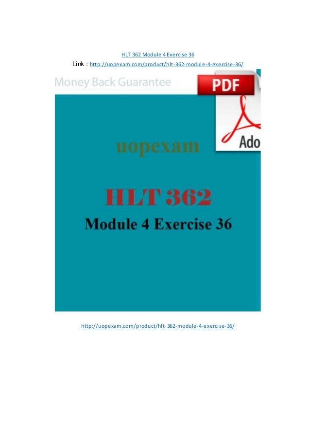 HLT 362 Module 1 Exercise 16