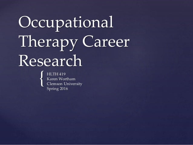 The new research climate surrounding occupational therapy
