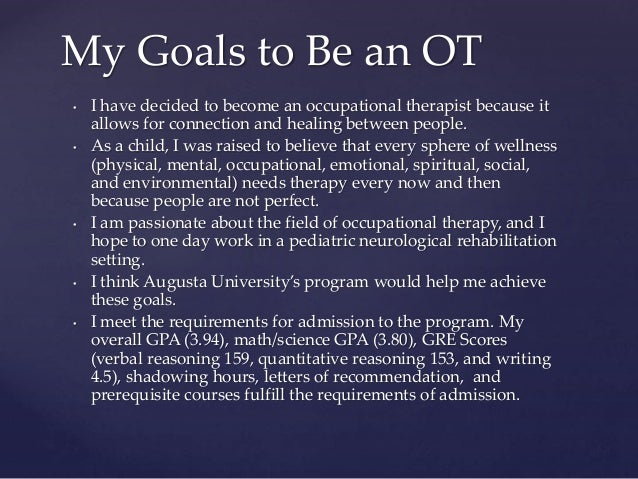 A research on the occupational therapist