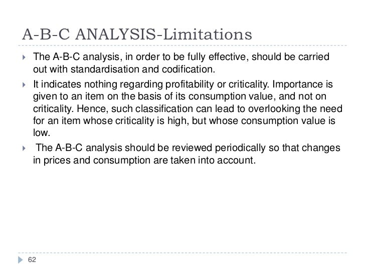 limitations of abc analysis