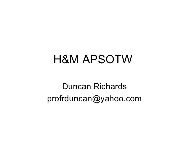 H&m apsotw(r duncan)
