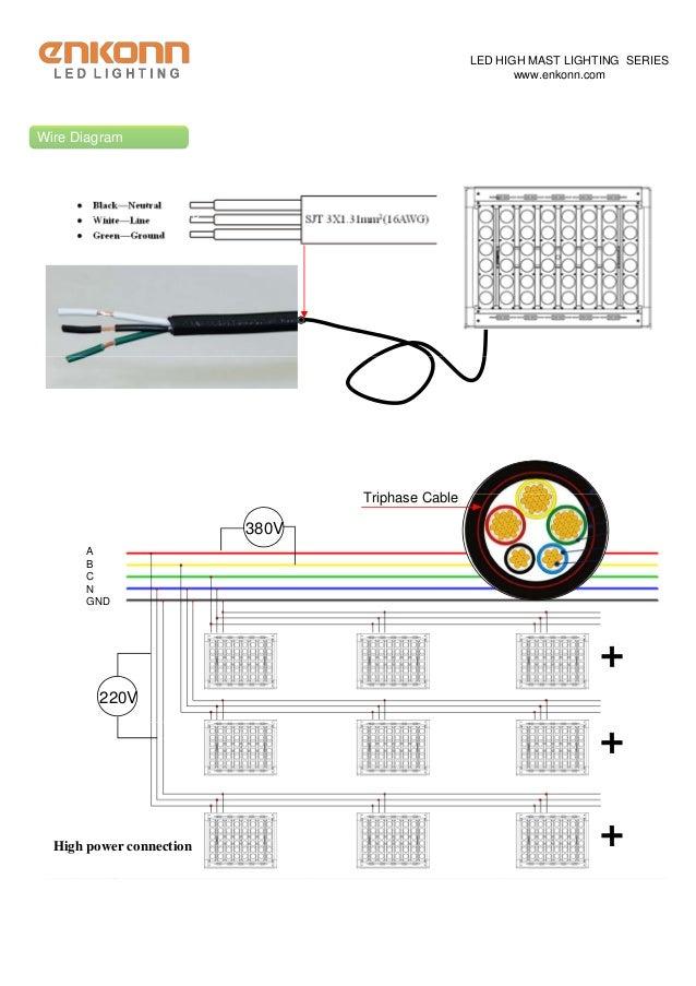 high mast light 500w for tower light rh slideshare net LED Light Wiring Diagram Light Fixture Wiring Diagram