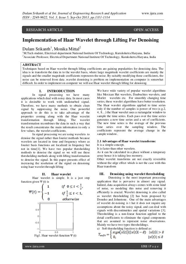 Dulam Srikanth et al Int. Journal of Engineering Research and Application ISSN : 2248-9622, Vol. 3, Issue 5, Sep-Oct 2013,...