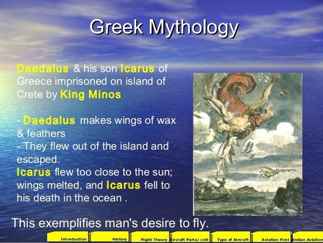 Greek MythologyGreek Mythology Daedalus & his son Icarus of Greece imprisoned on island of Crete by King Minos -Daedalus ...