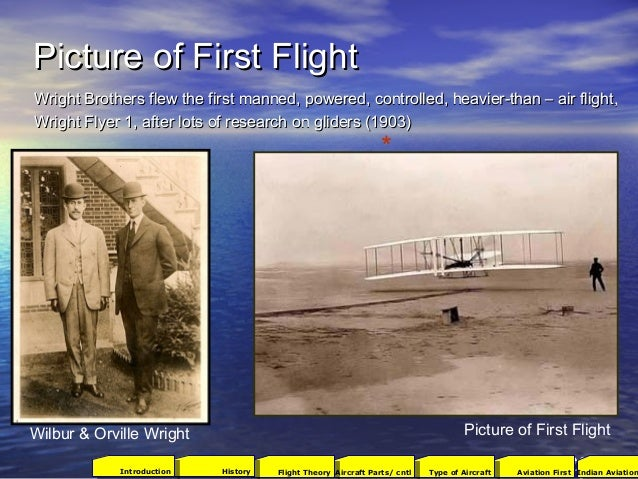 Picture of First FlightPicture of First Flight 12 Wright Brothers flew the first manned, powered, controlled, heavier-than...