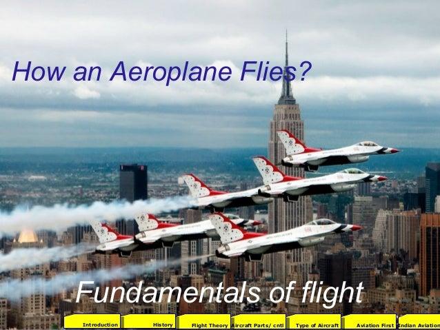 How an Aeroplane Flies? Fundamentals of flight 2001Aviation FirstType of AircraftAircraft Parts/ cntlFlight TheoryHistoryI...