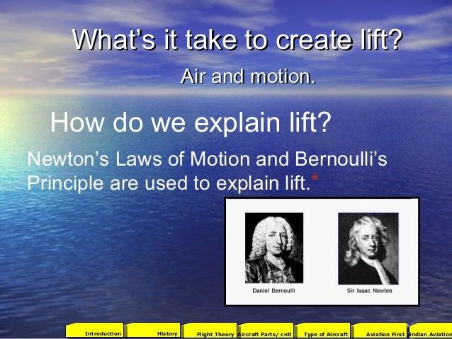 What's it take to create lift?What's it take to create lift? Air and motion.Air and motion. How do we explain lift? Newton...