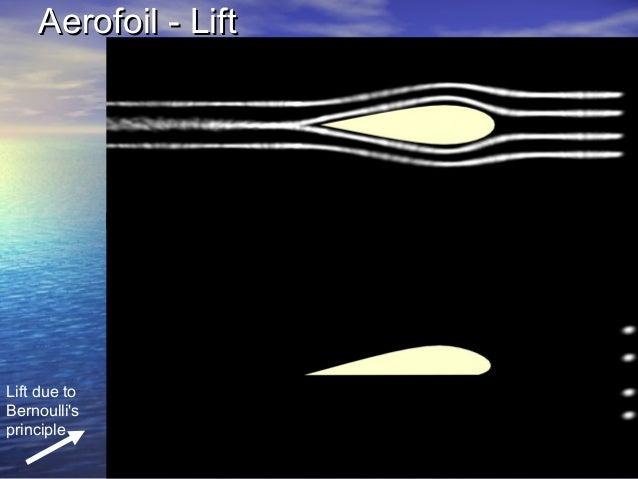 Aerofoil - LiftAerofoil - Lift Lift due to Bernoulli's principle