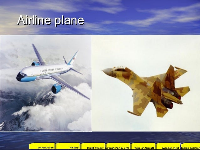 Airline planeAirline plane 2001Aviation FirstType of AircraftAircraft Parts/ cntlFlight TheoryHistoryIntroduction Indian A...