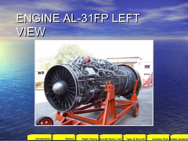 ENGINE AL-31FP LEFTENGINE AL-31FP LEFT VIEWVIEW 2001Aviation FirstType of AircraftAircraft Parts/ cntlFlight TheoryHistory...