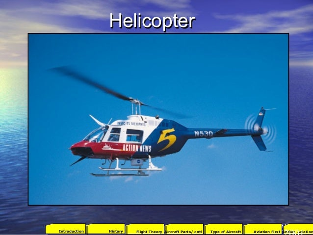 HelicopterHelicopter 422001Aviation FirstType of AircraftAircraft Parts/ cntlFlight TheoryHistoryIntroduction Indian Aviat...