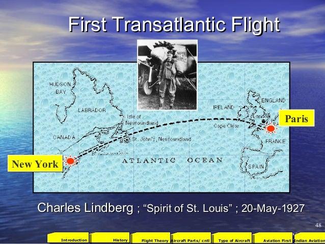 """First Transatlantic FlightFirst Transatlantic Flight Charles LindbergCharles Lindberg ; """"Spirit of St. Louis"""" ; 20-May-192..."""