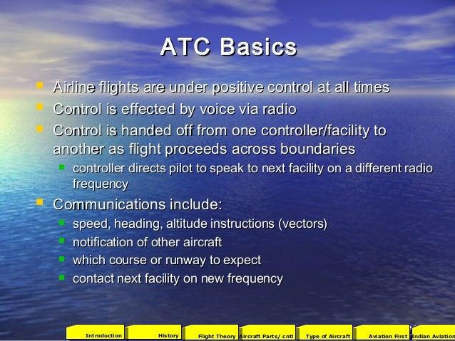 94 ATC BasicsATC Basics  Airline flights are under positive control at all timesAirline flights are under positive contro...