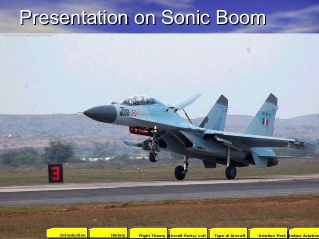 Presentation on Sonic BoomPresentation on Sonic Boom 2001Aviation FirstType of AircraftAircraft Parts/ cntlFlight TheoryHi...
