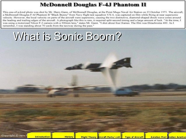 What is Sonic Boom?What is Sonic Boom? 2001Aviation FirstType of AircraftAircraft Parts/ cntlFlight TheoryHistoryIntroduct...