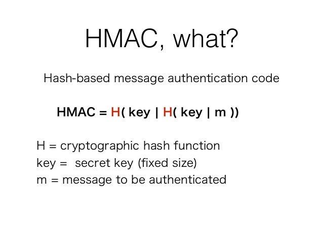HMAC authentication
