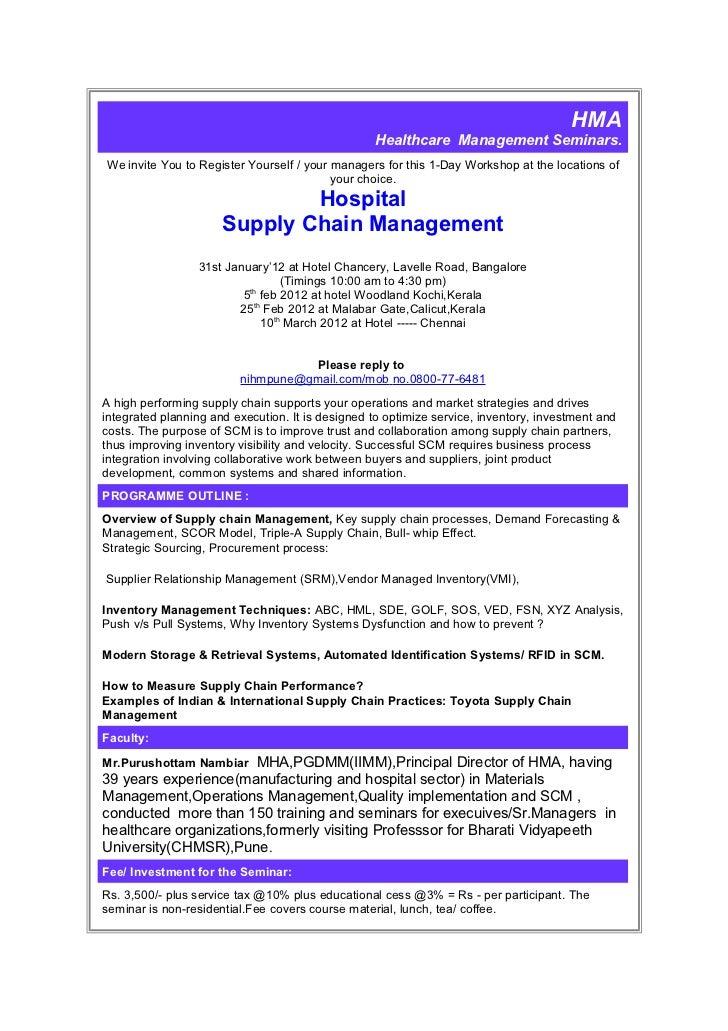 HMA                                                   Healthcare Management Seminars.We invite You to Register Yourself / ...