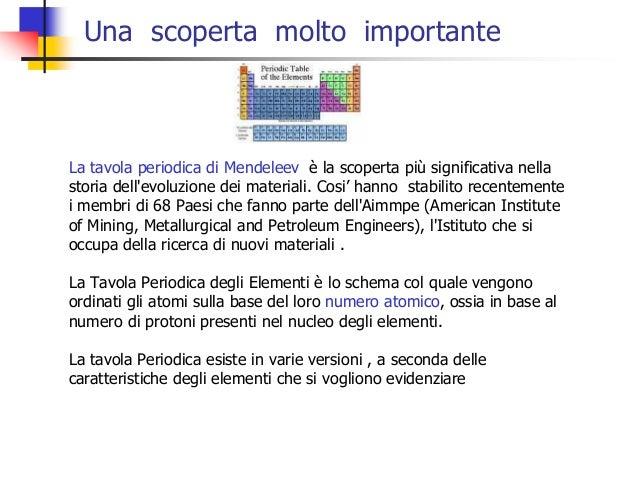 Una scoperta molto importante  La tavola periodica di Mendeleev è la scoperta più significativa nella storia dell'evoluzio...