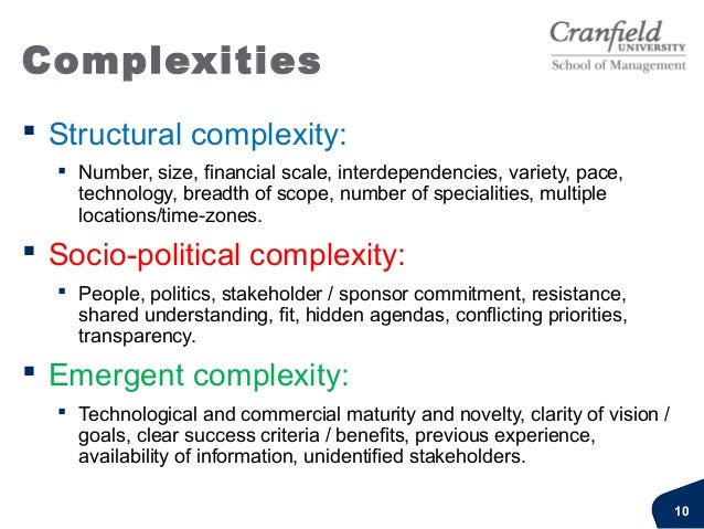 """Complexities""""In your work, which of the3 complexities is the most difficult tomanage?""""""""In your own formal training anddeve..."""