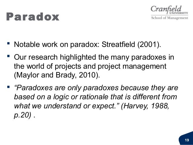 Paradox Idealised logicThe riskparadoxPassing the risk on by outsourcing assumes the client canavoid the riskThe contract ...
