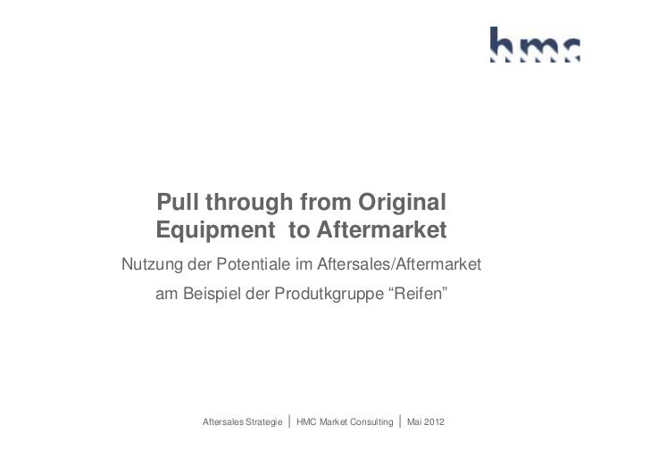 Pull through from Original    Equipment to AftermarketNutzung der Potentiale im Aftersales/Aftermarket    am Beispiel der ...