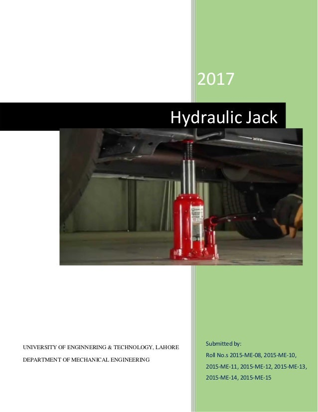 Design And Simulation Of Hydraulic Jack