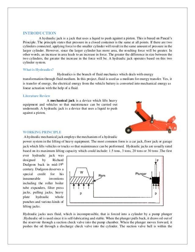 Design and Simulation of Hydraulic Jack