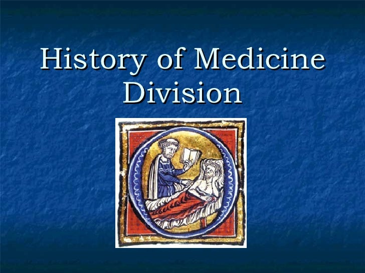 History of Medicine Division