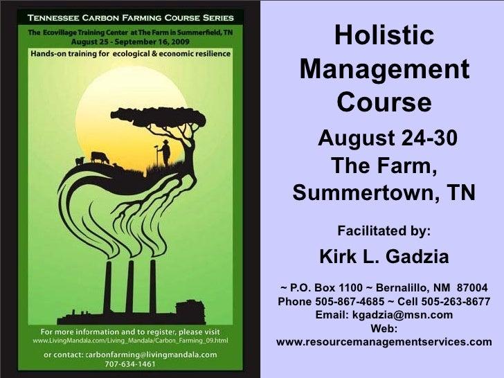 Holistic Management Financial Planning