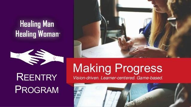 REENTRY PROGRAM Making Progress Vision-driven. Learner-centered. Game-based.