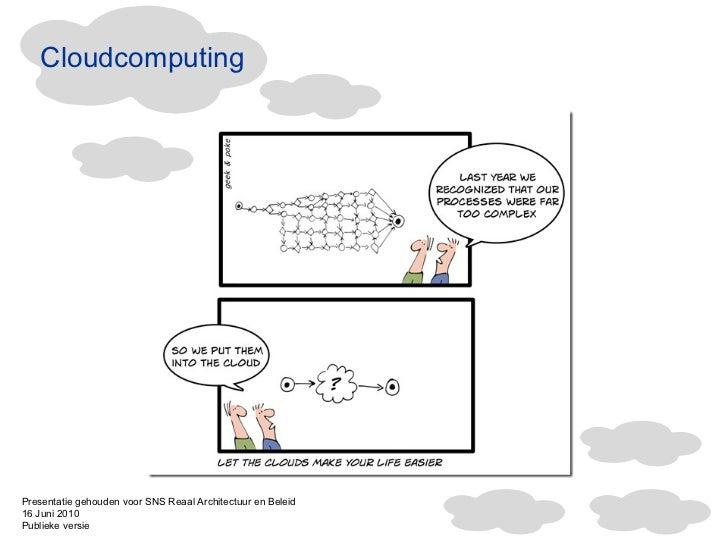 Cloudcomputing Presentatie gehouden voor SNS Reaal Architectuur en Beleid 16 Juni 2010  Publieke versie