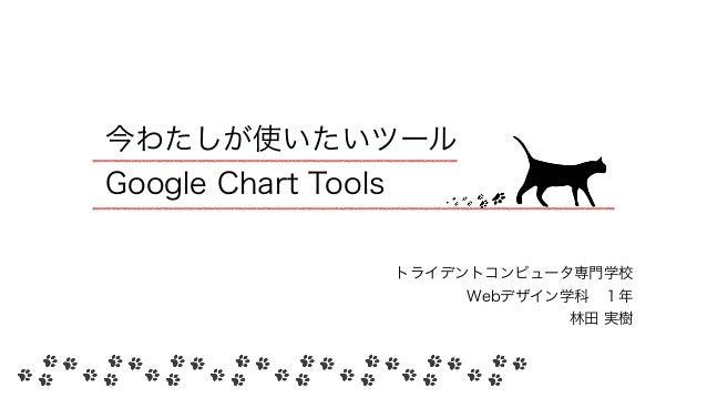 今わたしが使いたいツール Google Chart Tools トライデントコンピュータ専門学校 Webデザイン学科1年 林田 実樹