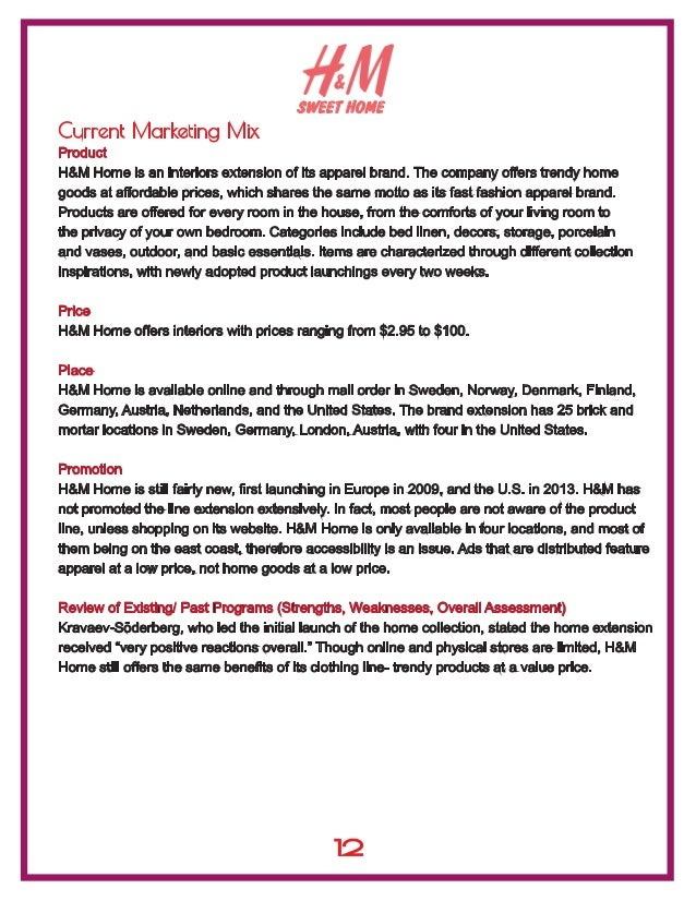 Marketing Mix H&M