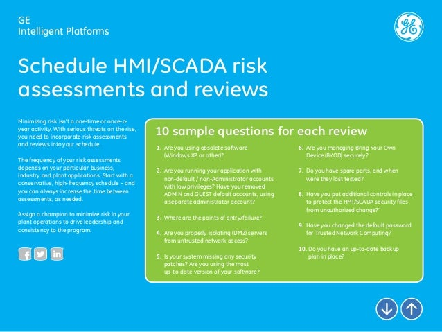 HMI/SCADA 리스크 감소