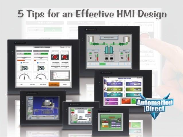 5 Tips for Effective HMI Design