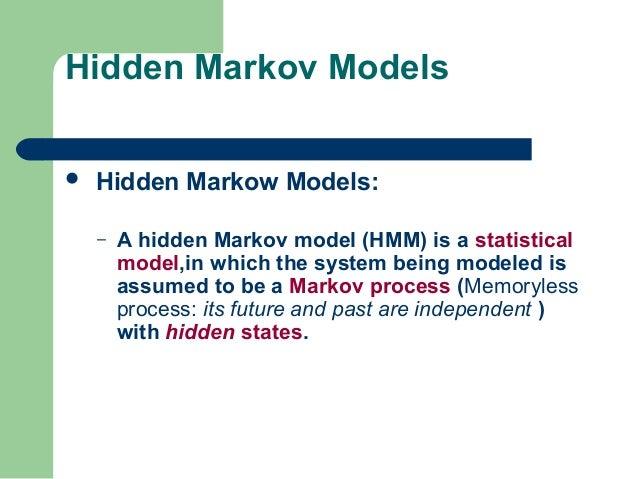 Hidden markov model ppt