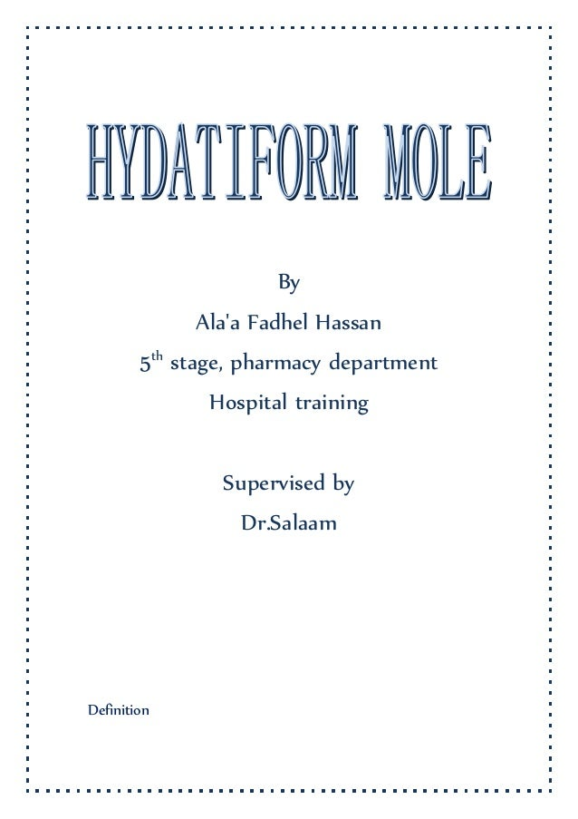 By Ala'a Fadhel Hassan 5th stage, pharmacy department Hospital training Supervised by Dr.Salaam Definition