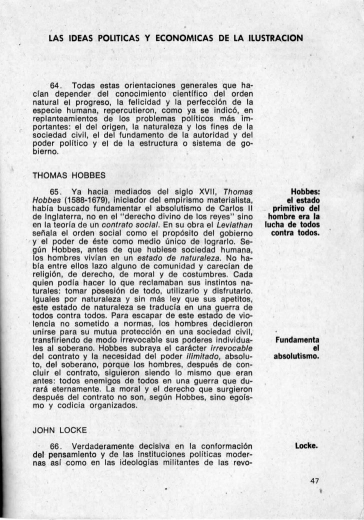 LAS IDEAS POLITICAS Y ECONOMICAS DE LA ILUSTRACION     64. Todas estas orientaciones generales que ha-cían depender del co...