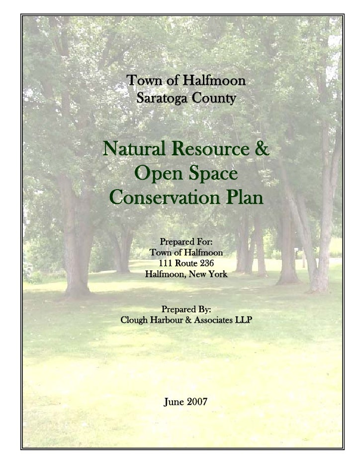 Draft Open Space Plan for the Town of Halfmoon