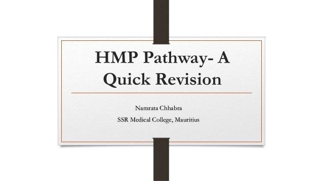 HMP Pathway- A Quick Revision Namrata Chhabra SSR Medical College, Mauritius