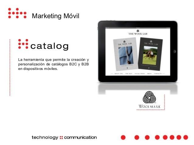 Marketing Móvil  La aplicación que sustituye los manuales  de papel.  Aplicación para la gestión de los manuales de GE Oil...
