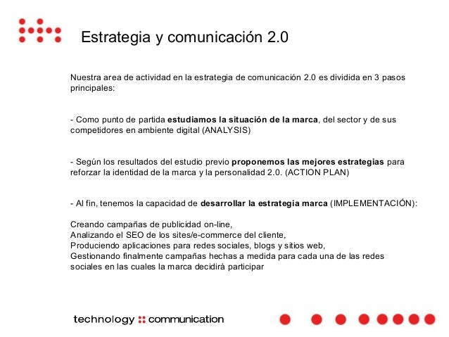 Estrategia y comunicación 2.0  En Marzo de 2014, haiku media empezó un proyecto de consultoría estratégica digital  para E...