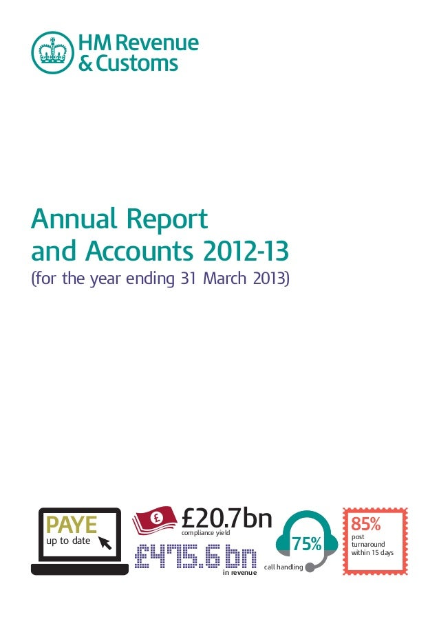 Annual Report   and Accounts 2012-13 � (for the year ending 31 March 2013) � £ PAYEup to date £20.7bn �compliance yield £4...