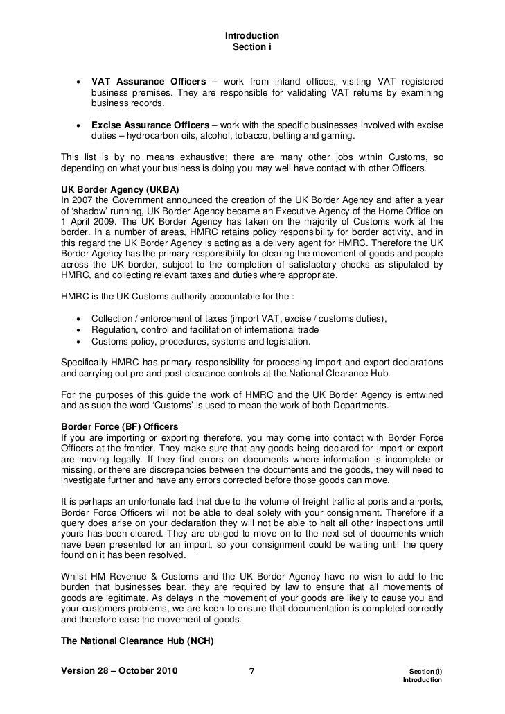 hmrc-starter-pack-guide-to-import-and-export-7-728 Job Application Letter For A Spy on small micro banking, hotel receptionist, example re, no experience, eee freshers, assistant researcher,