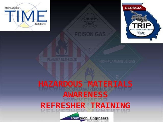 HAZARDOUS MATERIALS     AWARENESSREFRESHER TRAINING