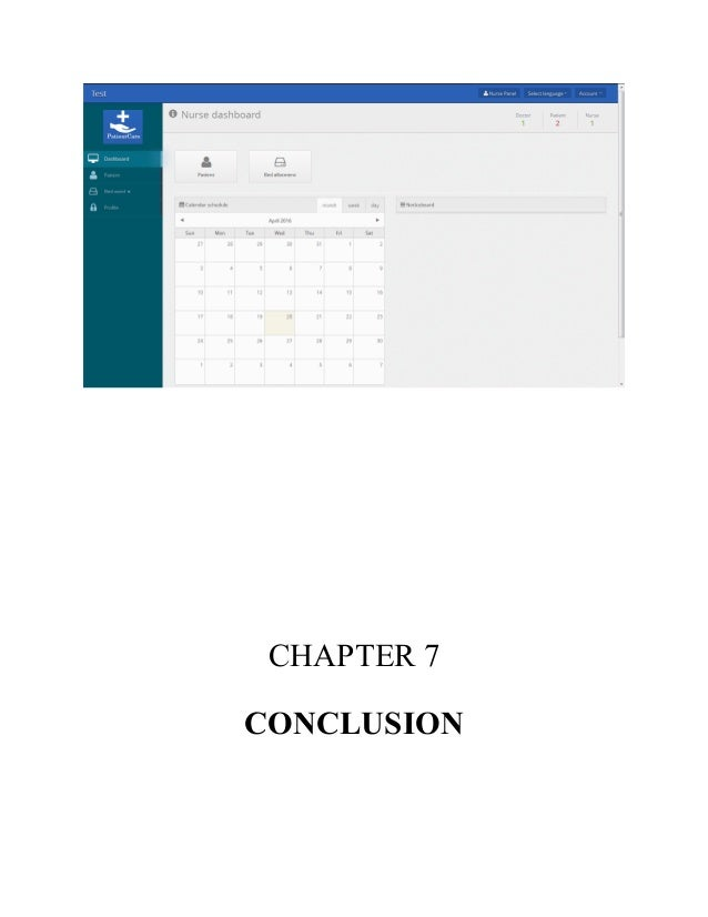 conclusion of hospital management system project report
