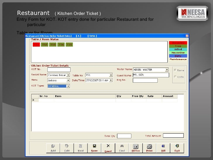 Restaurant Kitchen Management Forms hotel management software presentation