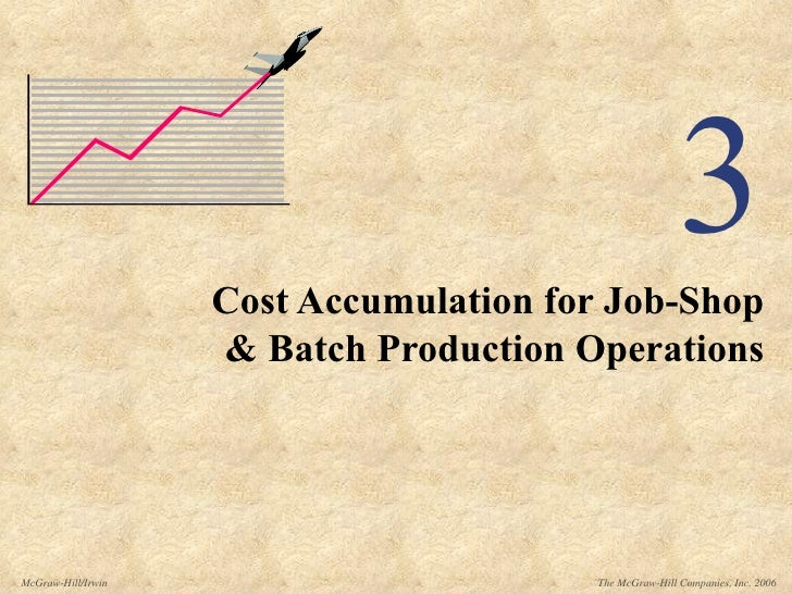 3 Cost Accumulation for Job-Shop & Batch Production Operations